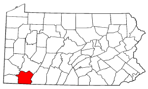 Image:Map of Pennsylvania highlighting Fayette County.png