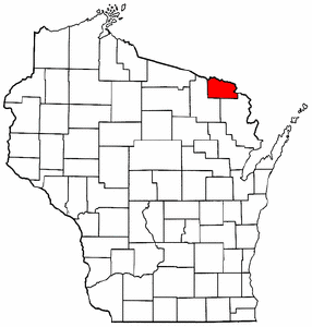 Image:Map of Wisconsin highlighting Florence County.png