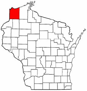 Image:Map of Wisconsin highlighting Douglas County.png