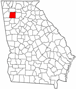 Image:Map of Georgia highlighting Bartow County.png
