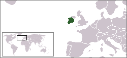 Location of the Republic of Ireland