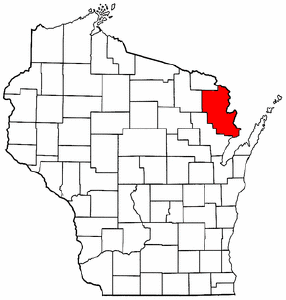 Image:Map of Wisconsin highlighting Marinette County.png