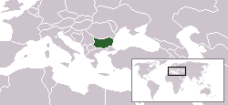 Location of Bulgaria