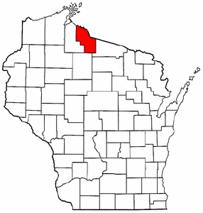 Image:Map of Wisconsin highlighting Iron County.png