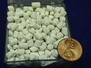 Lithium pellets (covered in white lithium hydroxide)