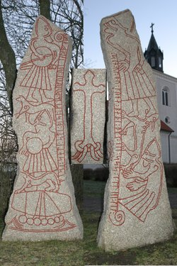 A composite image made from several sides of the  having illustrations of what probably are  in the  and a Byzantine ship