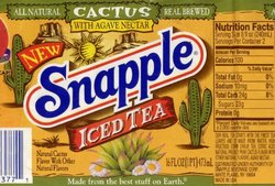 Cactus Iced Tea Snapple wrapper, a brand of Snapple that has been discontinued