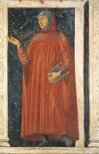 , from the Cycle of Famous Men and Women. c. 1450. Detached fresco. 247 x 153 cm. Galleria degli , , . Artist:  (c. 1423 - 1457)