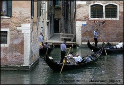 Canals in Venice, Italy. Photo provided by Classroom Clipart (http://classroomclipart.com)