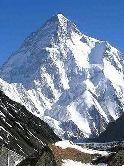 - the second-tallest mountain in the world