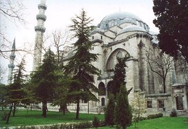 The  (S�leymaniye Camii) in  was built on the order of sultan  by the great  architect  in