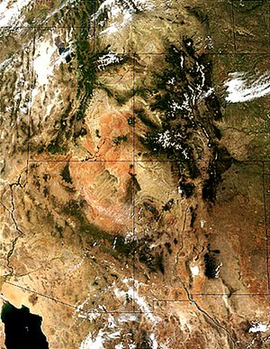 Four corners region and  from space