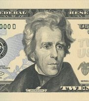 Andrew Jackson is depicted on the U.S. $20 bill.