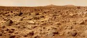 "The ""Ares Vallis"" area as photographed by Mars Pathfinder (click for detailed description)."