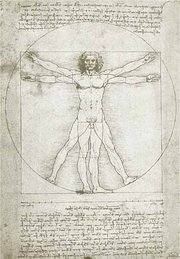 Leonardo's study of the proportions of the human body.